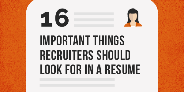 16 major things recruiters should look for in a resume target