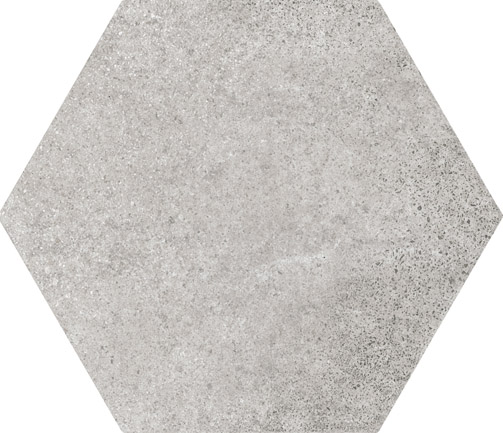 hexagon cement grey wall floor tile 175x200mm