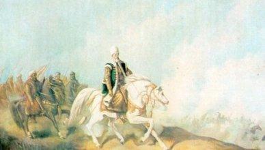 Kanuni Sultan Süleyman muharebe hattında.