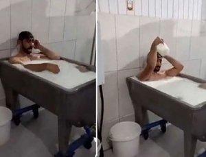Konya'daki Süt Banyosu Rezaletinde Flaş Gelişme! Böyle Savundu