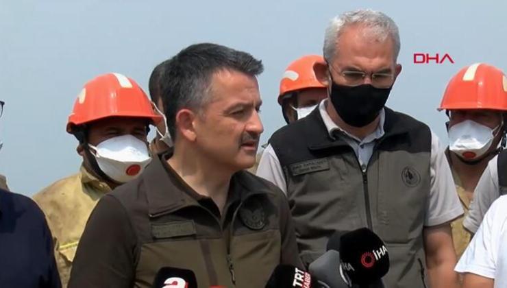 Son dakika… Bakan Pakdemirli'den Mersin ve Hatay'daki Orman Yangınlarına İlişkin Açıklama!