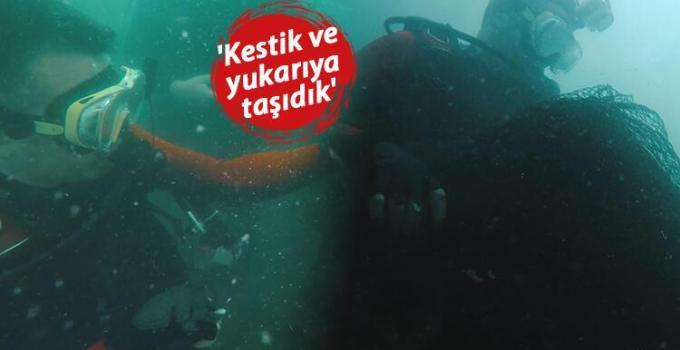 Bakan Pakdemirli Marmara Denizi'nden Hayalet Ağ Çıkardı