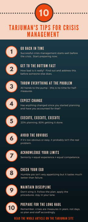 10 tips for crisis management