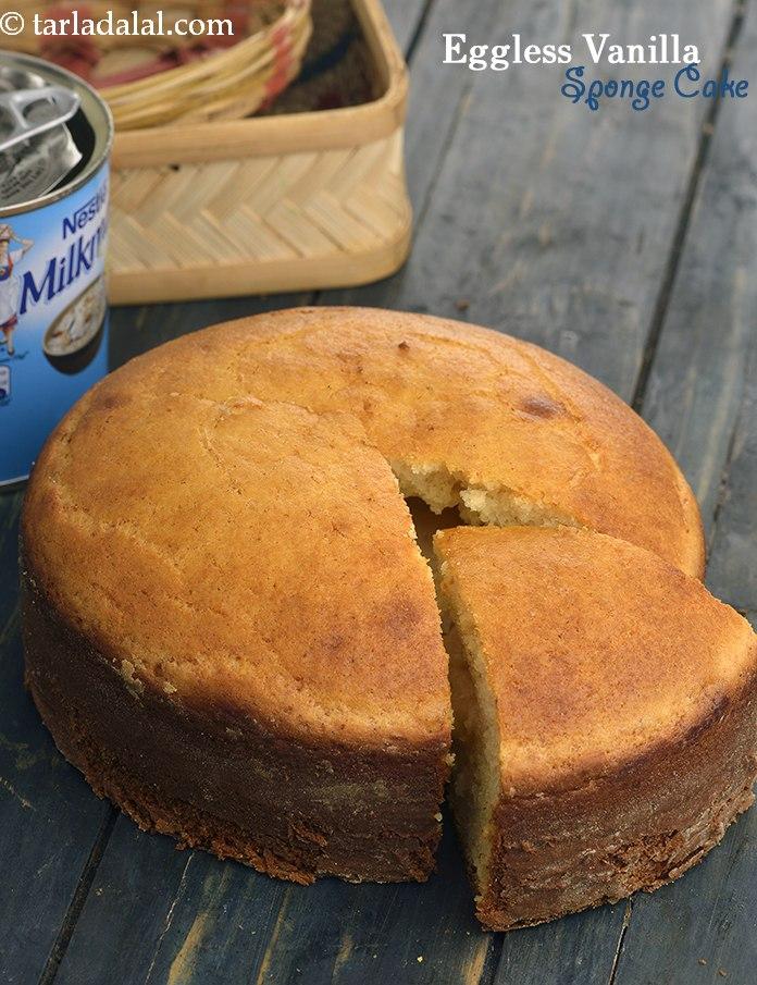 Eggless Vanilla Sponge Cake ( Pressure Cooker) Recipe  By