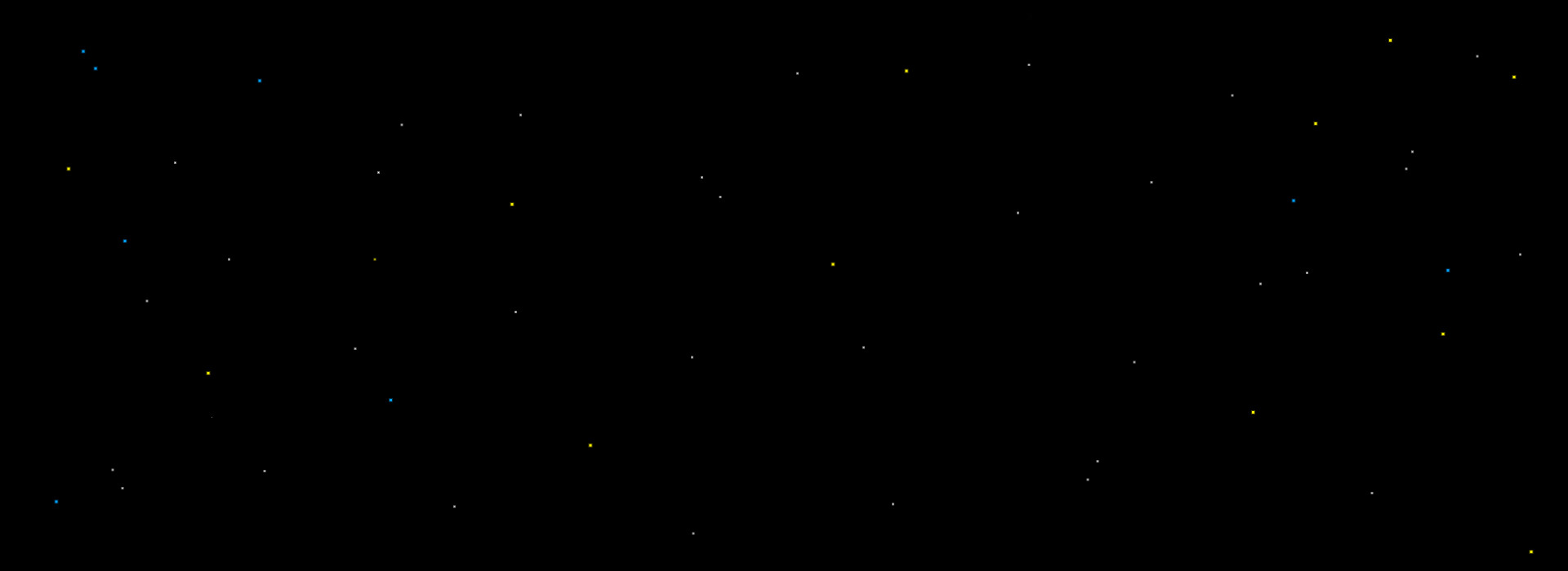 small and subtle stars on a black background