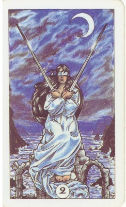 Tarot Card Two Of Swords In English - YouTube