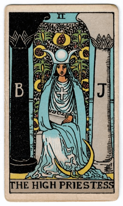 Ten of Swords > Knight of Pentacles > The High Priestess