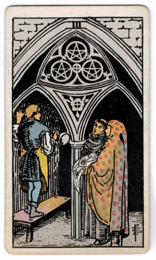 Three of Pentacles > The Chariot > Page of Pentacles | [TAROT]