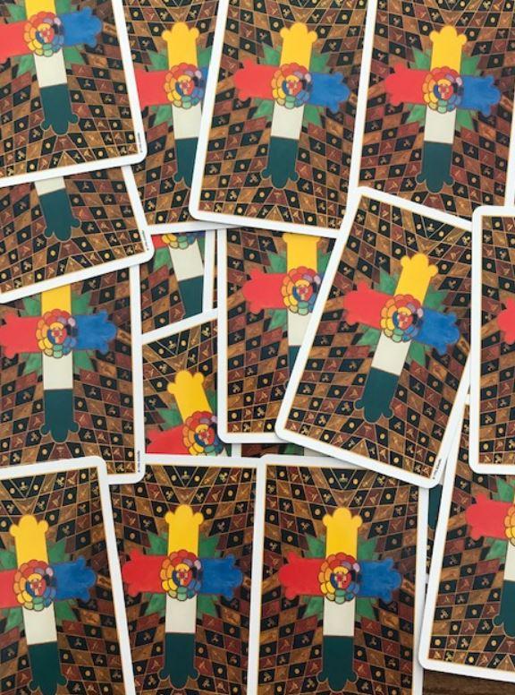 Achterkant van de Toth Tarotkaarten
