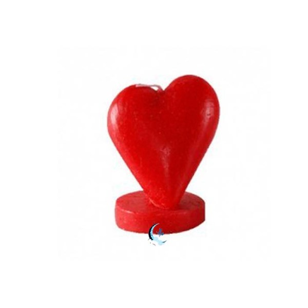 Figura de cera corazón rojo