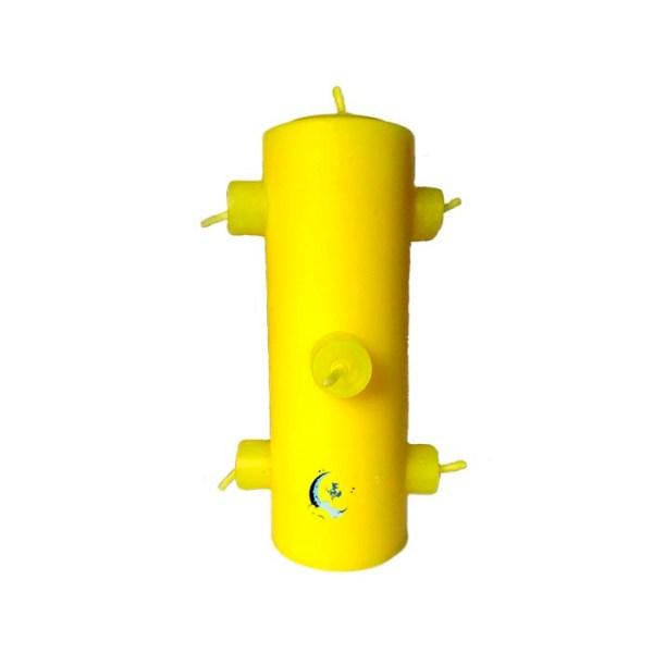 Velón preparado 7 mechas amarillo