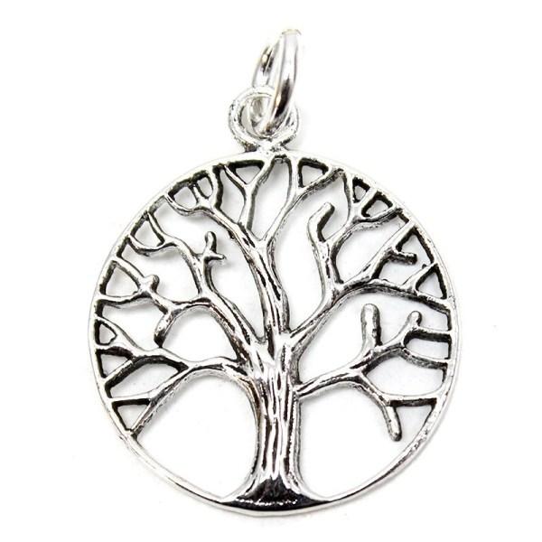 Colgante plata árbol de la vida ramas