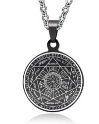 Medalla 7 arcángeles en acero bizantino
