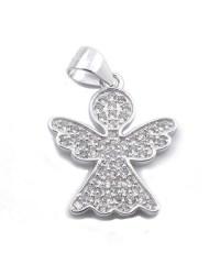 Angelito de plata con circonita