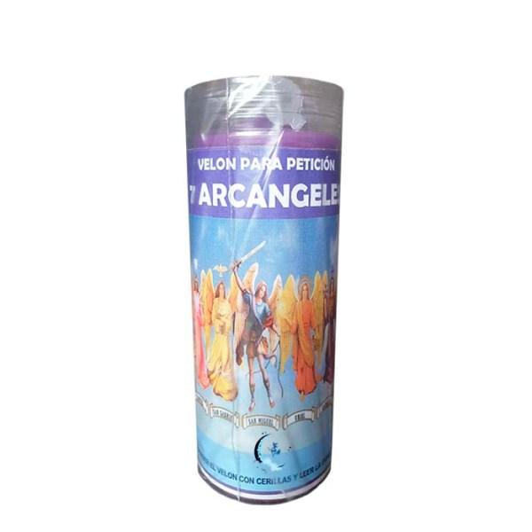 Velón 7 arcángeles con aceite