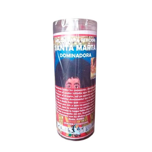 Velón de oración con aceite Santa Marta dominadora