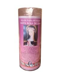 Velón de oración con aceite Santa Rosa de Lima