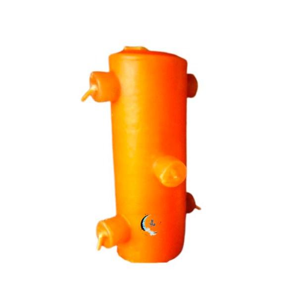 Velón 7 mechas naranja