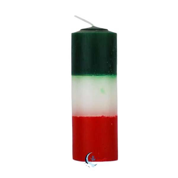 Velón tricolor verde blanco rojo