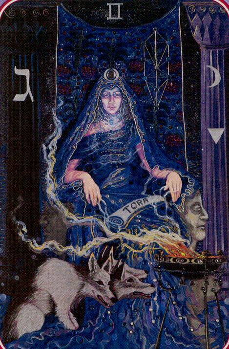 2 The High Priestess The Spiral Tarot deck by Kay Steventon