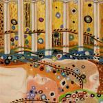 56 7 of Swords The Golden Tarot of Klimt by Atanas Alexander Atanssov