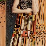 74 Page of Coins The Golden Tarot of Klimt by Atanas Alexander Atanssov