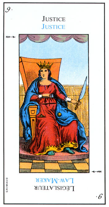 The Grand Etteilla Tarot Deck Justice-LawMaker | The Unified