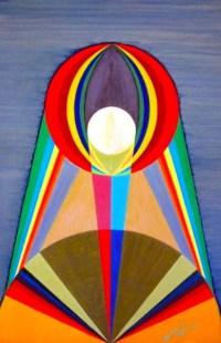 Michaël Bellon's Tarot 18 The Moon