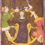 Visconti-Sforza Tarot _10_-_Wheel_of_Fortune