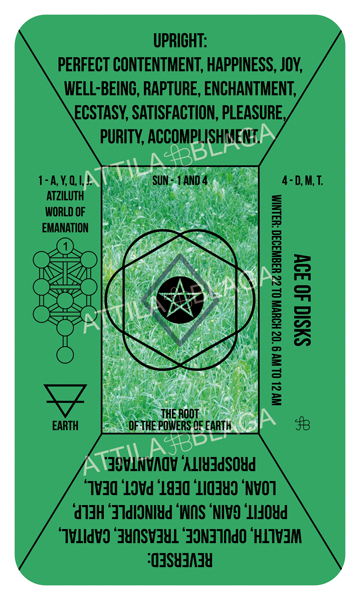 Traditional Divinatory Tarot, Ace of Disks