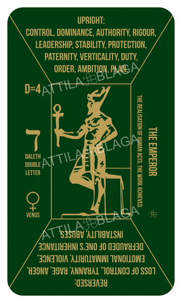 Traditional Divinatory Tarot, The Emperor