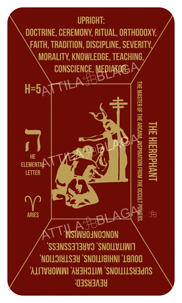 Traditional Divinatory Tarot, The Hierophant