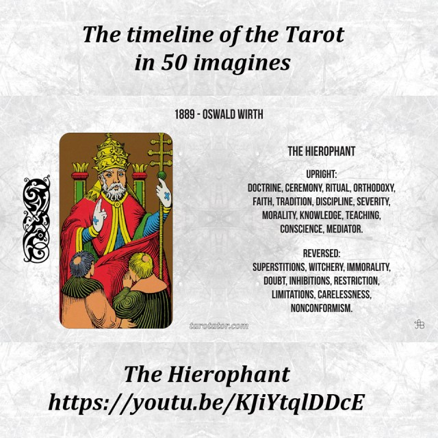 The timeline of the Tarot in 50 imagines