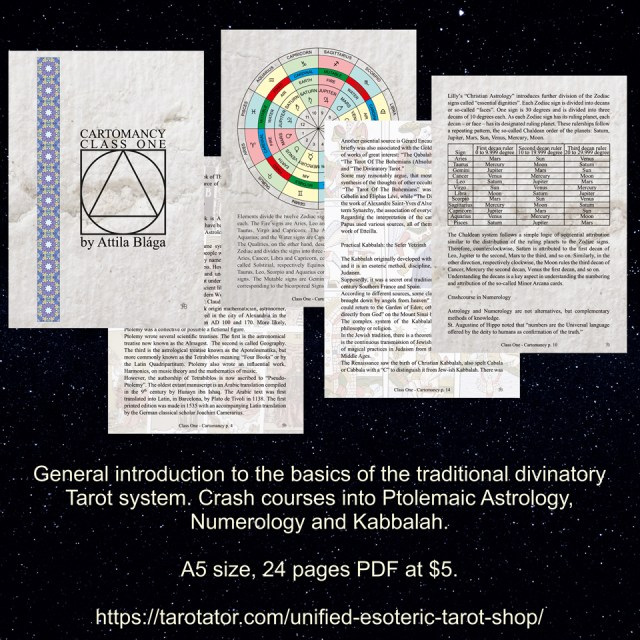 Cartomanct Class One PDF By Attila Blaga