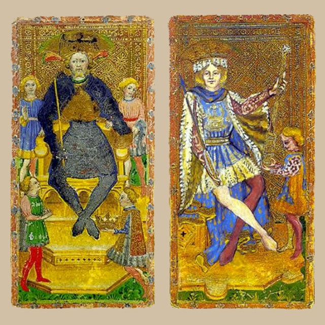 The Emperor and the King of Wands (Cary-Yale Visconti)