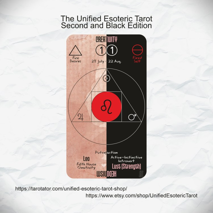 Unified Esoteric Tarot Standard and Black Editions