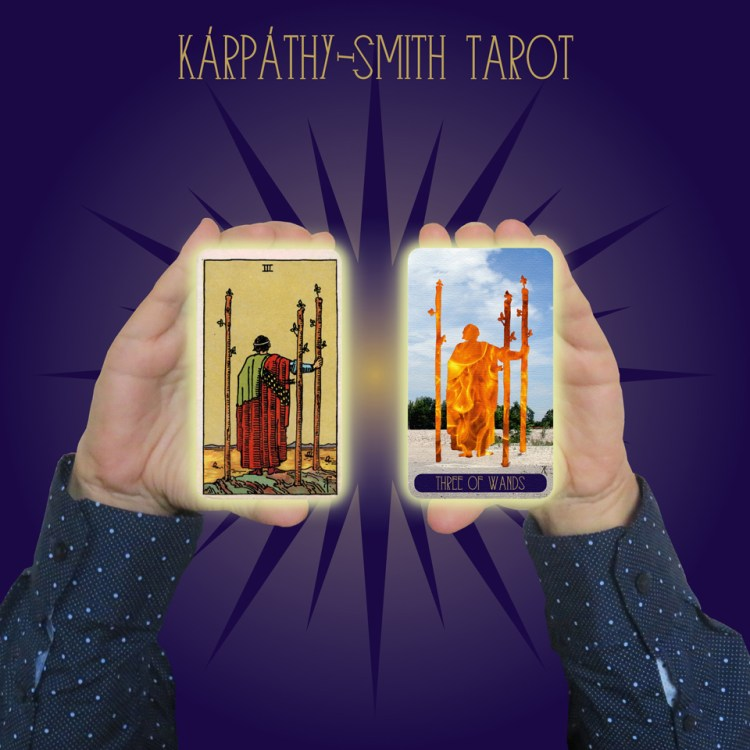 Karpathy-Smith Tarot Three of Wands