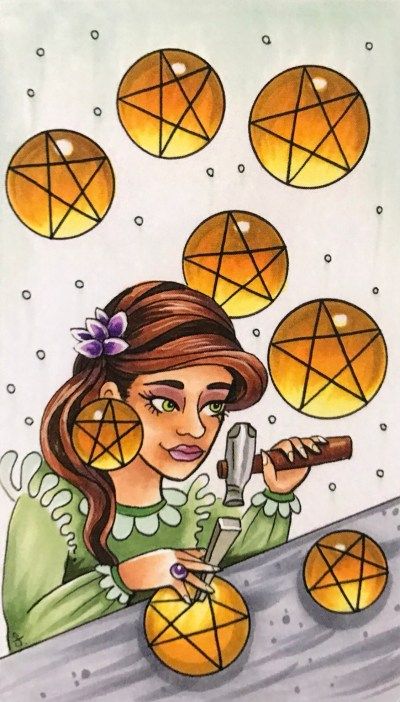 8 of Pentacles « Tarot by Cecelia