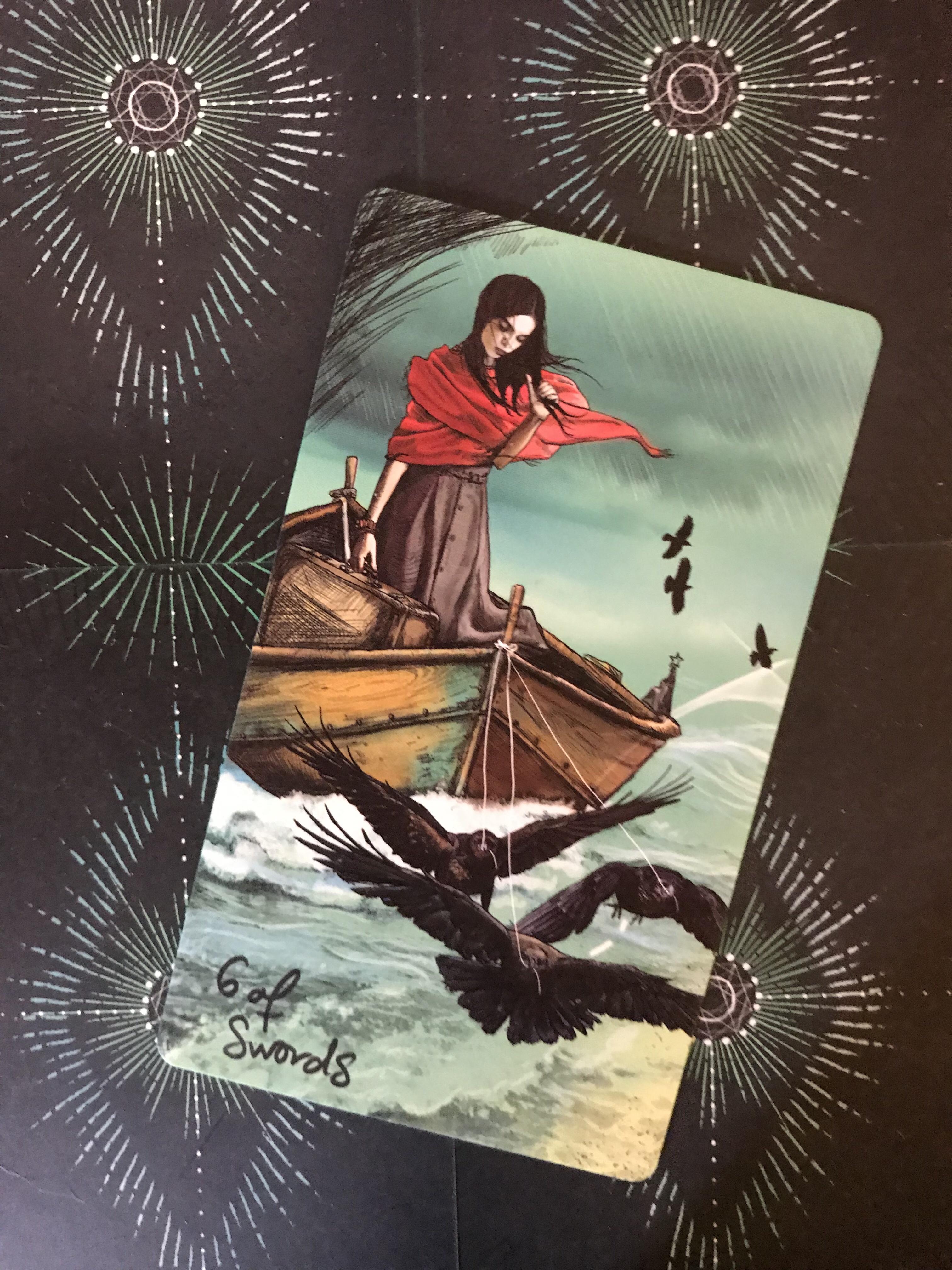 Featured Card Of The Day 6 Of Swords Lightseer S Tarot By Chris Anne Donnelly Tarot By Cecelia Lá 6 of pentacles có thể hàm chỉ thời điểm khi cuộc sống trở nên tốt hơn, đặc biệt khi liên quan đến vấn đề tiền bạc. featured card of the day 6 of swords