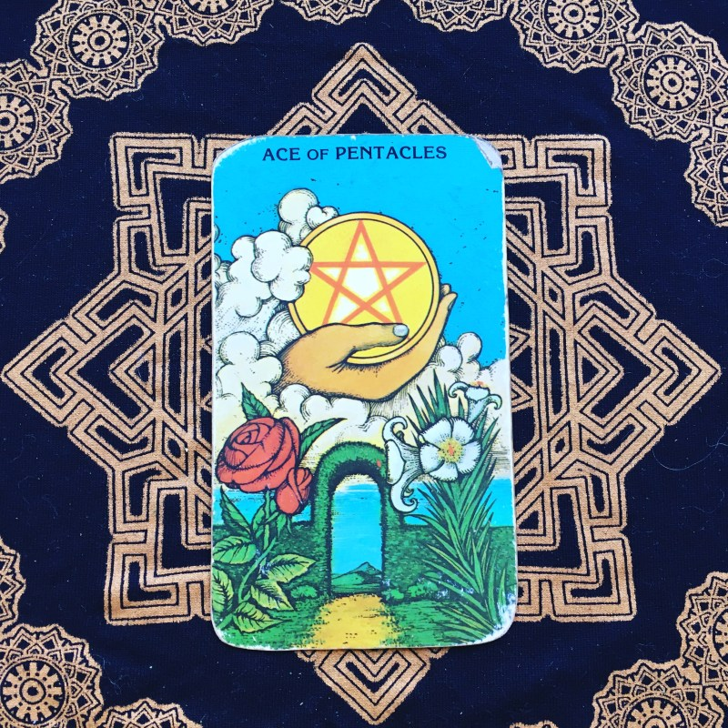 Ace of Coins Tarot card for wealth and opportunity