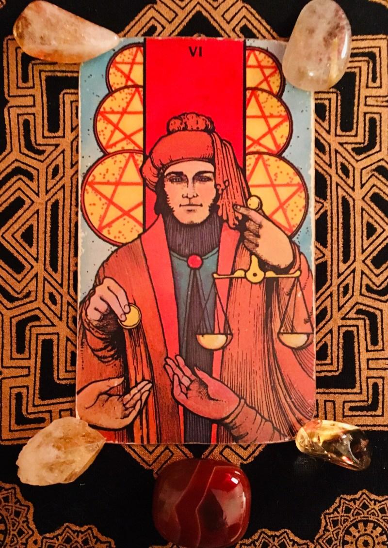 Six of Coins, Tarot card, minor arcana