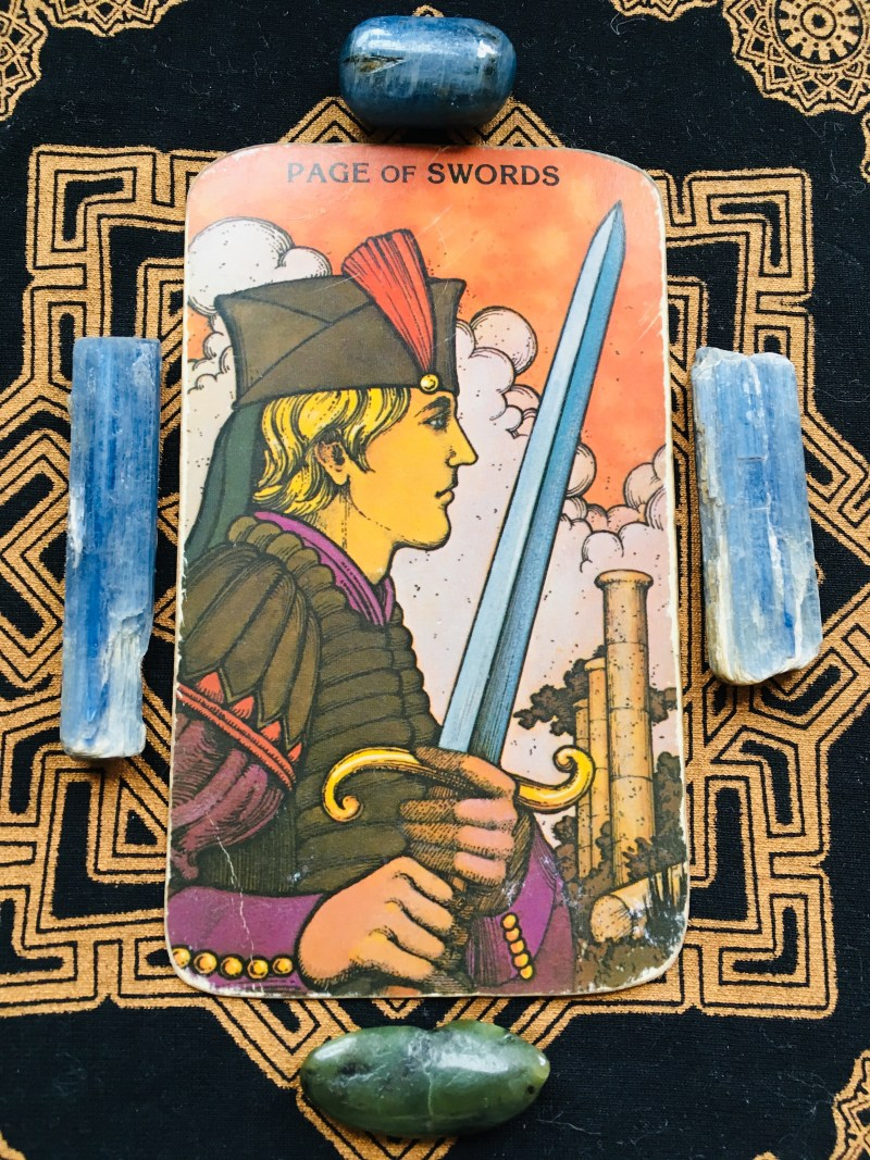 page of swords tarot card