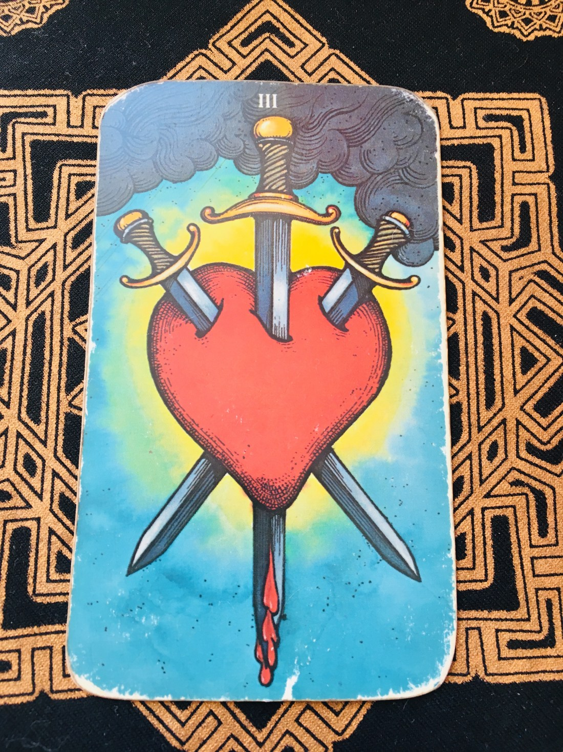 Three of Swords, Tarot card, heal wounds.