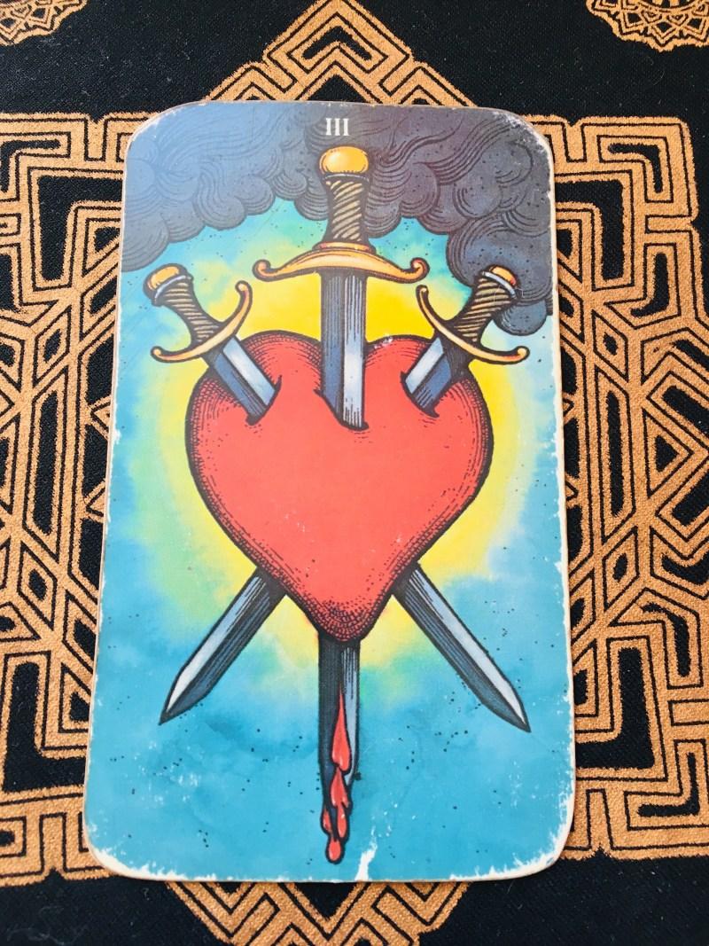 Three of Swords, Tarot card, heal wounds.