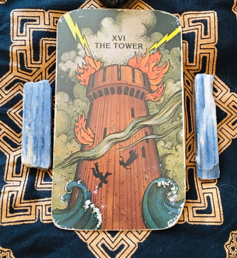 The Tower Tarot card, positive change.