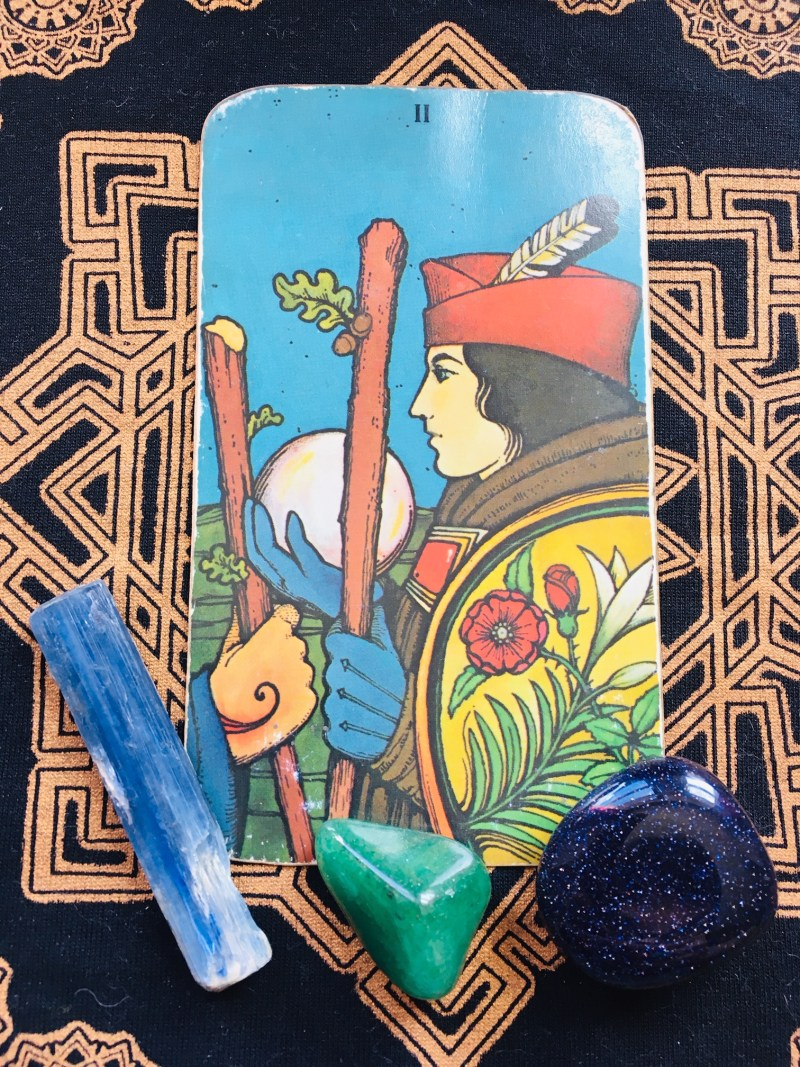 Two of Wands, go on an adventure