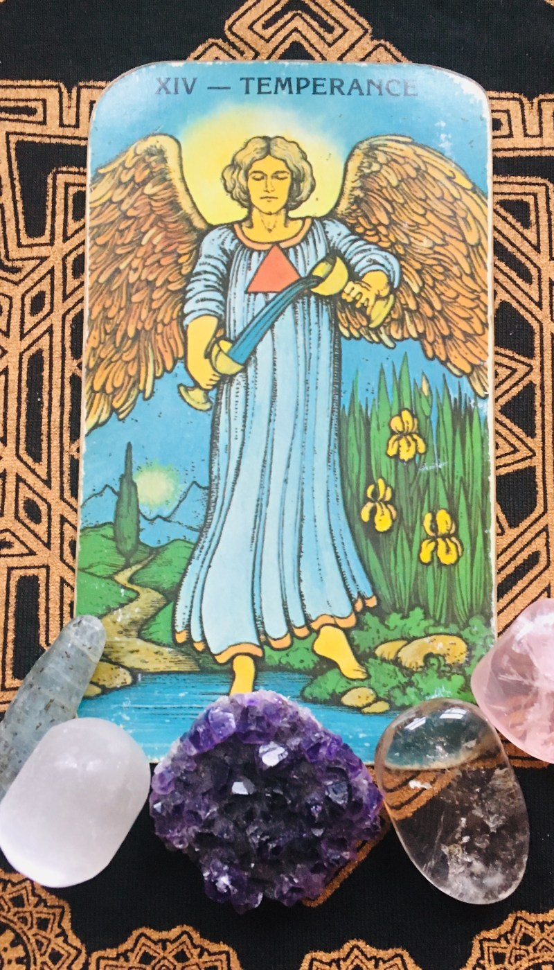 Temperance Tarot card and spiritual observation bringing in balance