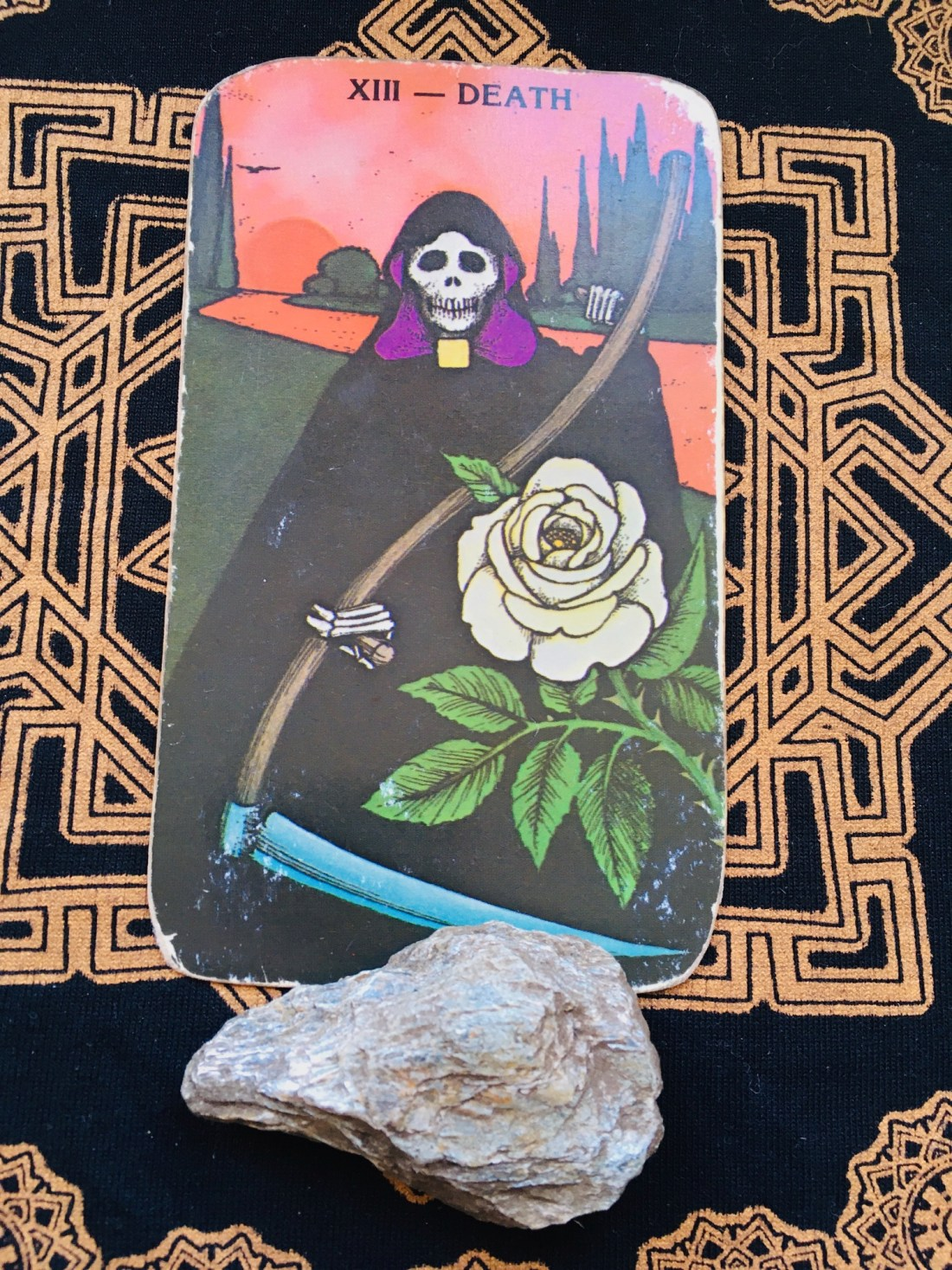 Death Tarot card means change and to let go.