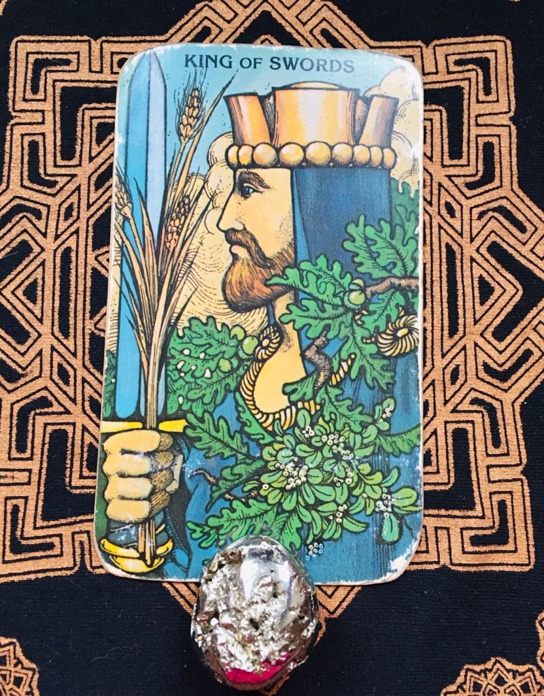 King of Swords Tarot card keep life simple