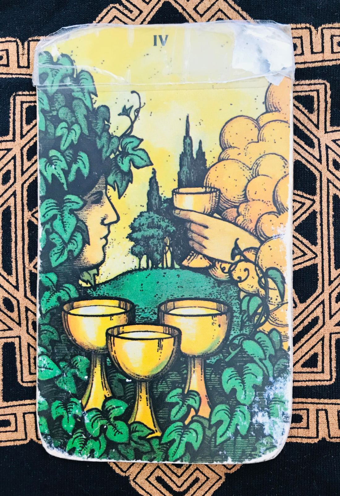 four of cups tarot card. good choices